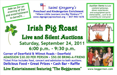 7 St. Gregory's Preschool 2011 Auction Flyer